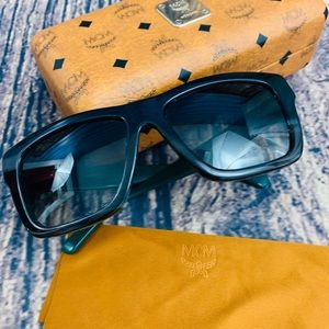 MCM Sunglasses with Case & Cloth Logo branded NWOT